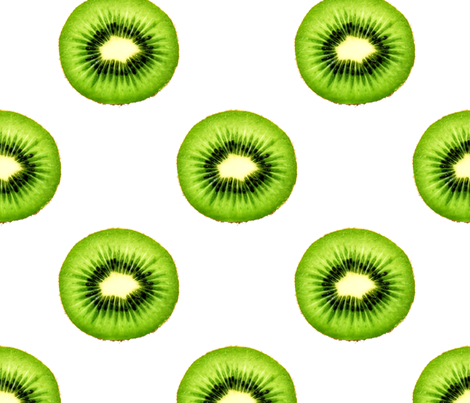 Kiwi Fruit - Large Repeating Pattern fabric by thecumulusfactory on Spoonflower - custom fabric