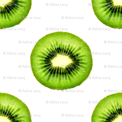 Kiwi Fruit - Small Repeating Pattern