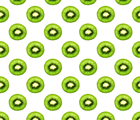 Kiwi Fruit - Small Repeating Pattern fabric by thecumulusfactory on Spoonflower - custom fabric