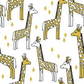 Giraffe - Mustard by Andrea Lauren