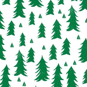 Trees - Kelly Green and White by Andrea Lauren