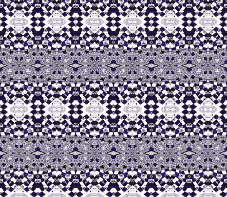 Inky Purple Checkers fabric by hummingbird-stitch on Spoonflower - custom fabric