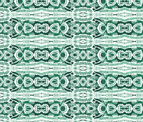 Emerald Spell fabric by hummingbird-stitch on Spoonflower - custom fabric