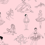 Pretty Ballerinas on Pale Pink