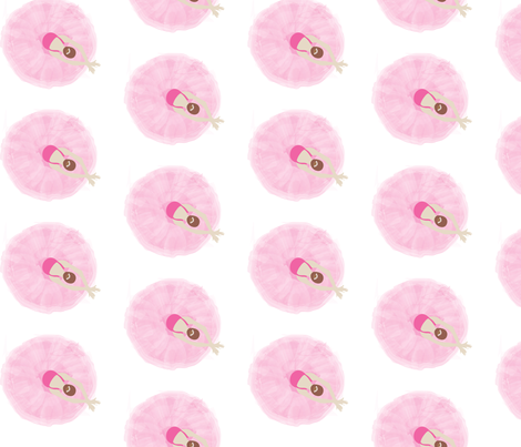 Ballerinas in Concert pink fabric by colour_angel_by_kv on Spoonflower - custom fabric