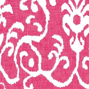 Lucette Ikat in Hot Pink