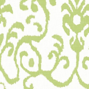 Lucette Ikat in Celery