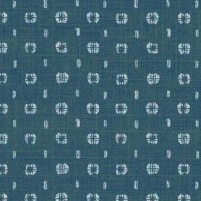 Pods - ocean blue linen
