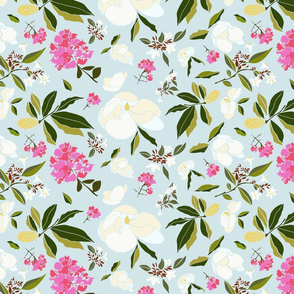 Elegant traditional botanical floral