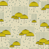 Umbrellas Yellow ans Stars