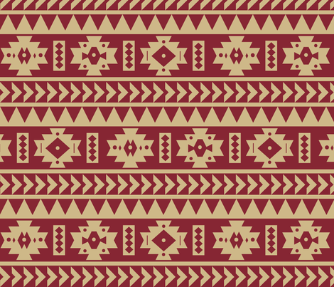 FSU Aztec Tribal Print Fabric Seachelle Spoonflower Cool Aztec Tribal Pattern