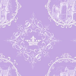 Fairy Tale Castle Crown Lavender and White