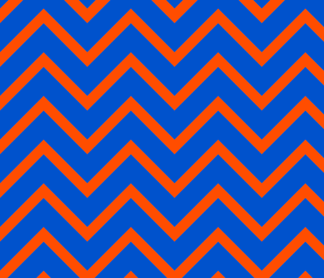 UF Blue and Orange Chevron fabric by seachelle on Spoonflower - custom fabric