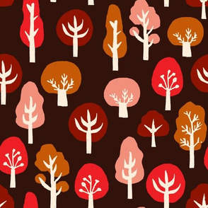 trees // linocut block print trees by andrea lauren fall autumn tree design andrea lauren linocut