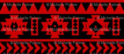 UGA Red and Black Aztec tribal Print