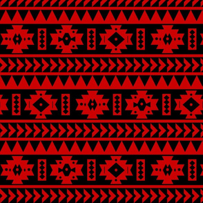 UGA Red and Black Aztec tribal Print