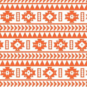 Clemson Orange and White Aztec Tribal Print
