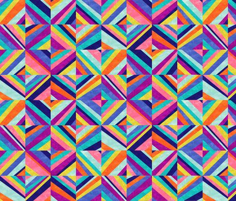 Hybrid - Colorful Geometric fabric by mjmstudio on Spoonflower - custom fabric
