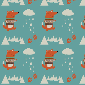 Cute Fox pattern