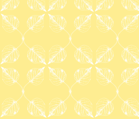 Falling leaves - lemon fabric by drapestudio on Spoonflower - custom fabric