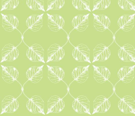 Falling leaves kiwi fabric by drapestudio on Spoonflower - custom fabric