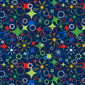 Party Dots & Stars - Navy