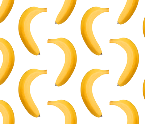 Banana Photo - Huge Repeating Pattern fabric by thecumulusfactory on Spoonflower - custom fabric