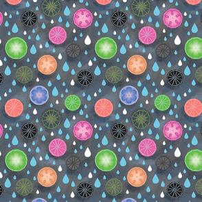 Umbrellas and Raindrops