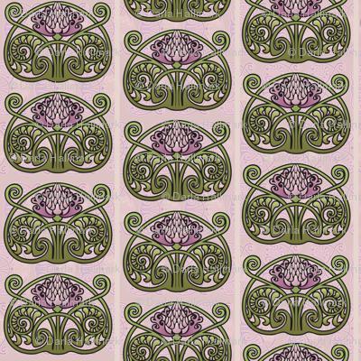 Art Nouveau Thistles