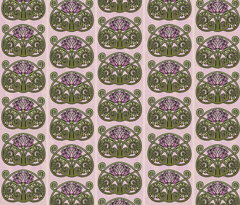 Art Nouveau Thistles fabric by hannafate on Spoonflower - custom fabric