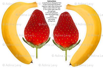 Banana & Strawberry Photo Softie DIY with instructions