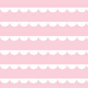 Bunting white on pastel pink