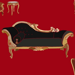 Modern baroque chaise
