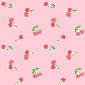 cherries - pink