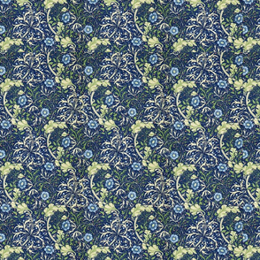 William Morris Blue Daisies