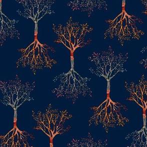 Tree of life  Midnight blue
