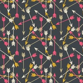arrows scattered // mini arrows southwest tribal design print