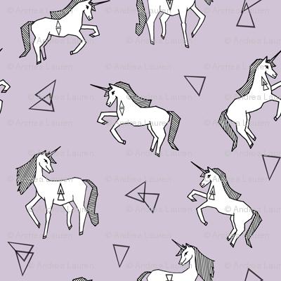 unicorn // pastel purple lilac lavender pale purple girls sweet unicorns fabric