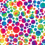 crazy rainbow dots