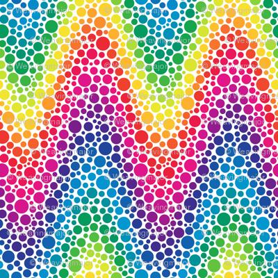 Rainbow Chevron Dots Fabric Weavingmajor Spoonflower