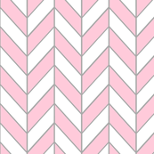 Pink, Grey and White Chevron