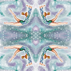 Gymnast-Teal & Lilac