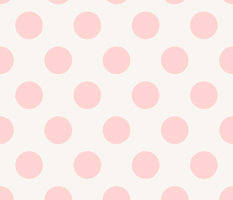Polka Dot Pale Pink fabric by mjmstudio on Spoonflower - custom fabric