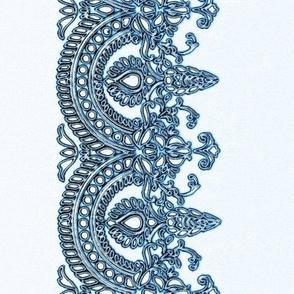 blue lace border