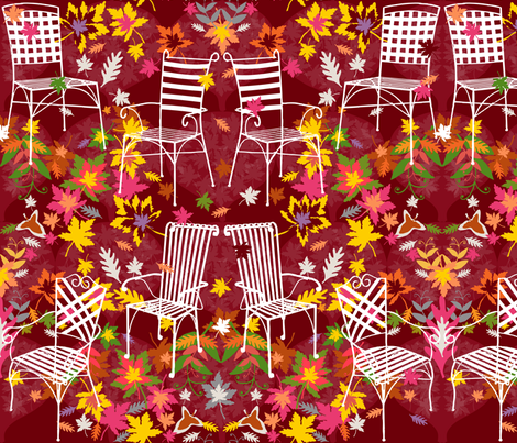 Garden Chairs fabric by paula's_designs on Spoonflower - custom fabric