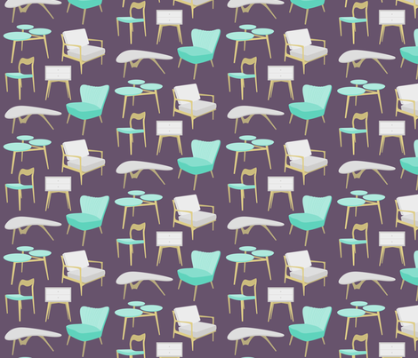 Midcentury Home fabric by mariana_p on Spoonflower - custom fabric