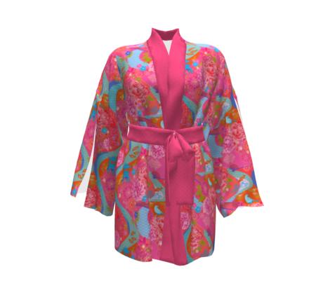 Pink Kimono Garden