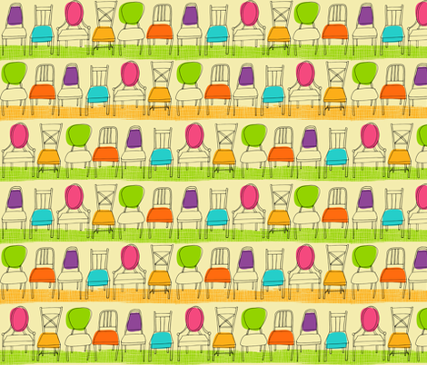 Musical Chairs fabric by snowflower on Spoonflower - custom fabric