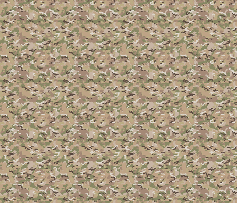 1/6 Scale Multicam Camo fabric by vonjager on Spoonflower - custom fabric