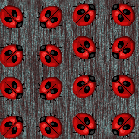 Ladybug Dots fabric by eclectic_house on Spoonflower - custom fabric